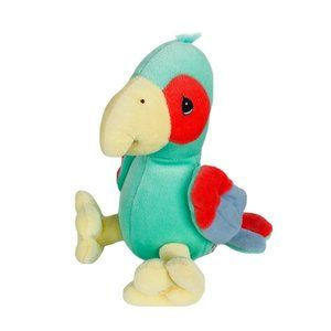 Precious Moments Tender Tails Green Parrot Plush